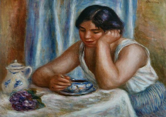 Renoir, Pierre Auguste: The Chocolate Cup. Fine Art Print/Poster. Sizes: A4/A3/A2/A1 (004265)